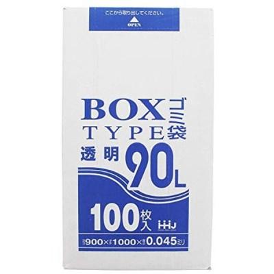 ポリ袋 透明 箱入タイプ 90L 厚さ0.045mm 100枚入 BL-93