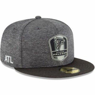 New Era ニュー エラ スポーツ用品  New Era Atlanta Falcons Heather Gray/Heather Black 2018 NFL Sideline Road Black 59F