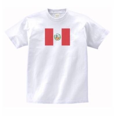 国 国旗 Tシャツ ペルー 白