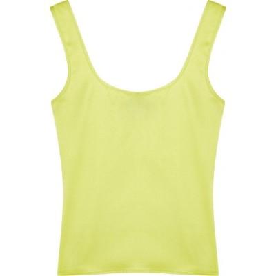 オペラスポーツ OperaSPORT レディース ノースリーブ トップス Edita lime stretch-silk top Green