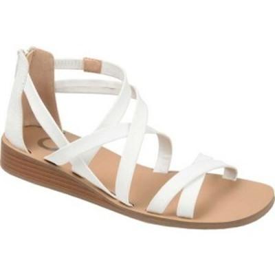 ジュルネ コレクション Journee Collection レディース サンダル・ミュール ウェッジソール シューズ・靴 Lanza Wedge Strappy Sandal Wh