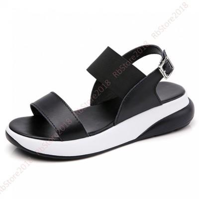 サンダル 疲れない プラットフォーム レディース オープントゥ 夏 歩きやすい 素足 痛くない 靴 旅行 厚底 30代 40代 ファッション 大きいサイズ