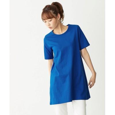 大きいサイズ 綿100%チュニックTシャツ ,スマイルランド, plus size tops,