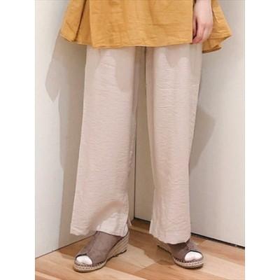 裾スリットイージーパンツ