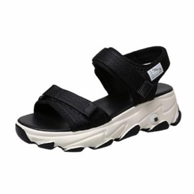 サンダル レディース スポーツサンダル 歩きやすい 厚底サンダル レディースサンダル カジュアル 軽量 おしゃれ コンフォート