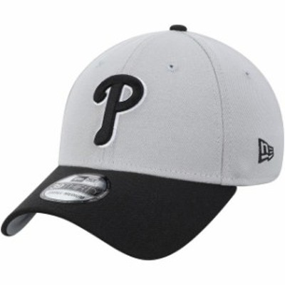 New Era ニュー エラ スポーツ用品  New Era Philadelphia Phillies Gray/Black Team Classic 39THIRTY Flex Hat