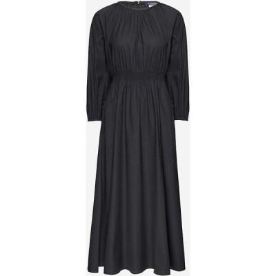 マックスマーラ S MAX MARA レディース ワンピース ワンピース・ドレス Guelfi elasticated-waist cotton-blend dress BLACK