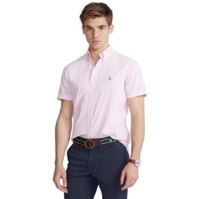 ラルフローレン シャツ トップス メンズ Men's Classic-Fit Gingham Oxford Shirt Pink/White
