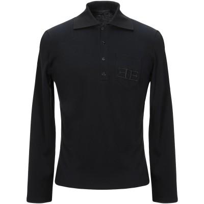 エルマノ シェルヴィーノ ERMANNO SCERVINO ポロシャツ ブラック 46 コットン 100% ポロシャツ