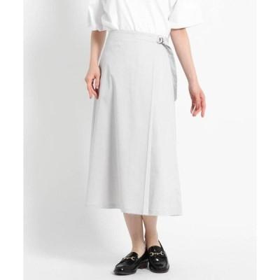 Dessin / デッサン 【S~Lサイズあり・洗える】タックベルトミモレスカート