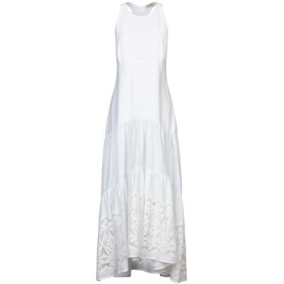 BLACK CORAL ロングワンピース&ドレス ホワイト 40 コットン 100% ロングワンピース&ドレス