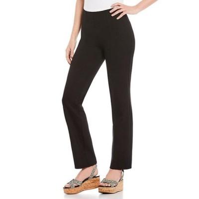 インベストメンツ レディース カジュアルパンツ ボトムス Slim Factor by Investments Ponte Knit No Waist Slim Straight Pants