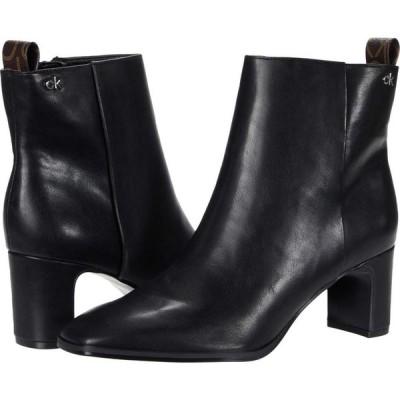 カルバンクライン Calvin Klein レディース シューズ・靴 Deni Black Waxy Nappa