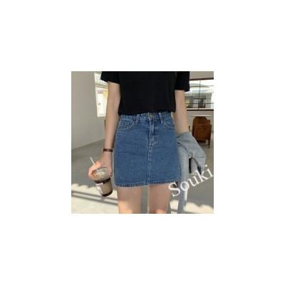 スカート レディース ミニスカート デニムスカート ショート丈 台形スカート 夏向き 薄手 おしゃれ シンプル カジュアル Aライン ボトムス
