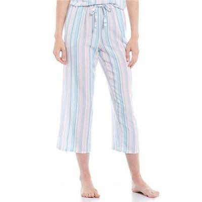ノッティビアンチェ レディース カジュアルパンツ ボトムス Yarn-Dye Striped Print Woven Cropped Sleep Pants