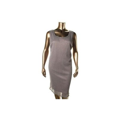 ドレス ワンピース R&M Richards R&M Richards 8178 レディース ブラウン メタリック 2PC ドレス ウイズ カーディガン Plus 14W BHFO