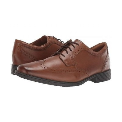 Clarks クラークス メンズ 男性用 シューズ 靴 オックスフォード 紳士靴 通勤靴 Tilden Wing - Dark Tan Leather
