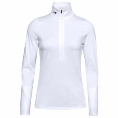 (取寄)アンダーアーマー レディース コールド ギア ハーフジップ トップ Underarmour Women's Cold Gear 1/2-Zip Top White Black
