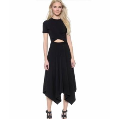 ミニドレス アシンメトリー スカート パーティー 黒 半袖 秋物 冬物 最新 レディース ファッション 2020 人気 可愛い 大人