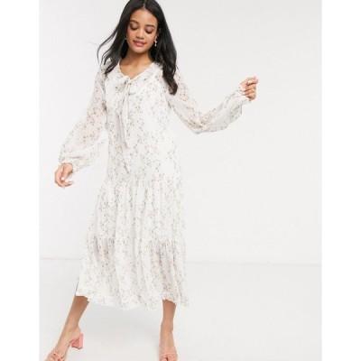 ウィーアーキンドレッド ミディドレス レディース We Are Kindred alice floral smock midi dress in posey エイソス ASOS