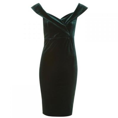 バルドー Bardot レディース パーティードレス ワンピース・ドレス Bella Velvet Dress Dark Green