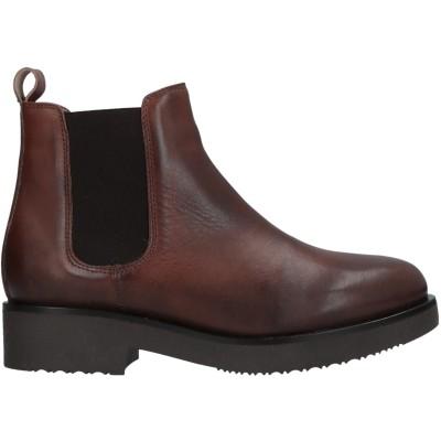 STELE ショートブーツ ブラウン 35 牛革(カーフ) ショートブーツ