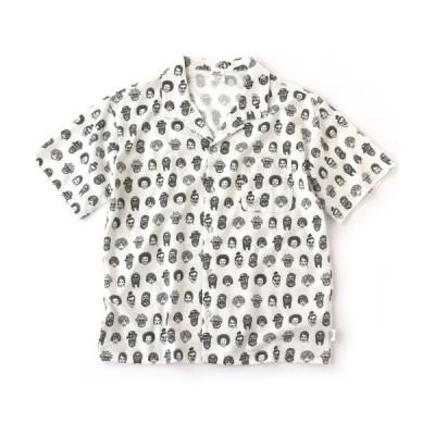 シャツ ブラウス ハッピーペイントジャガードシャツ