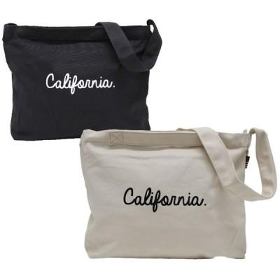 ショルダーバッグ トートバッグ メンズ レディース キャンバス 帆布 2WAY CALIFORNIA ネコポス対応 全国送料無料