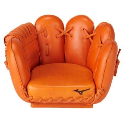 ミズノ メンズ 【受注生産】グラブ型チェア(小) 51クリアオレンジ 野球 革製品・木製品 その他グラブ革品 1GJYG895