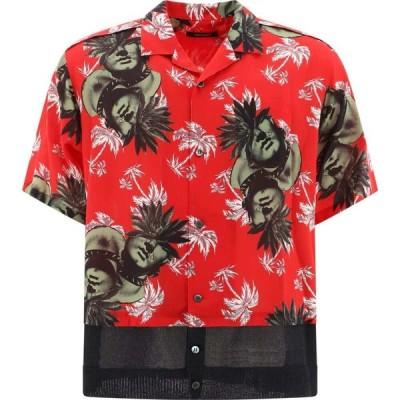 アンダーカバー Undercover メンズ 半袖シャツ アロハシャツ トップス Floral Hawaiian Shirt Red