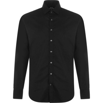 Westend By Simon Carter メンズ シャツ トップス Westend Stretch Cotton Shirt Black