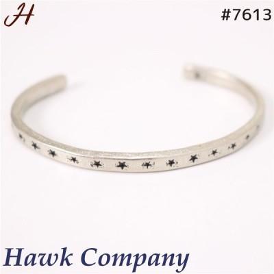 ネコポス発送 ホークカンパニー Hawk Company 7613 真鍮 バングル 星 細め ゴールド シルバーメッキアクセサリー メンズ レディース プレゼント【通常商品】