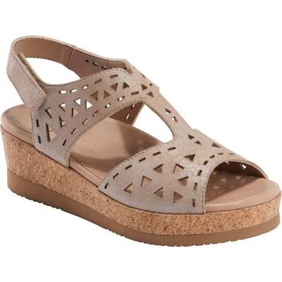カルソーアースシューズ EARTH レディース サンダル・ミュール ウェッジソール シューズ・靴 Buran Rosa Wedge Sandal Blush Leather