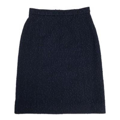 シャネル CHANEL ウール スカート ネップ ひざ丈 97C スカート スカート ウール ナイロン レディース 中古