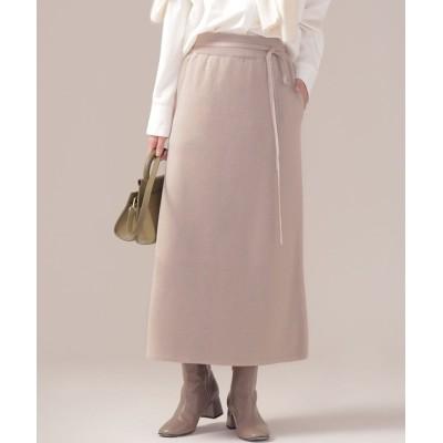 ミラノリブAラインニットスカート