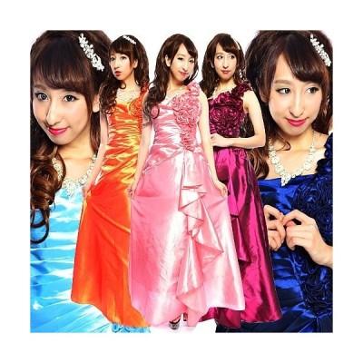 巻き薔薇ボリューム飾り姫ドレス