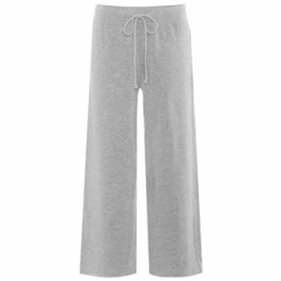 ベルベット グラハムandスペンサー Velvet レディース クロップド ボトムス・パンツ Avalyn cropped wide-leg trousers Heather Grey