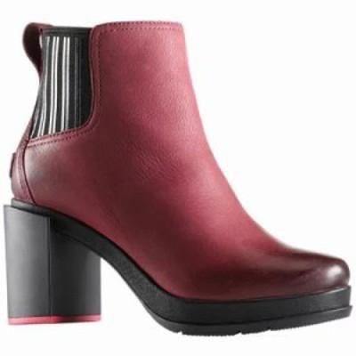 ソレル ブーツ Margo Chelsea Boot Rich Wine Waterproof Leather