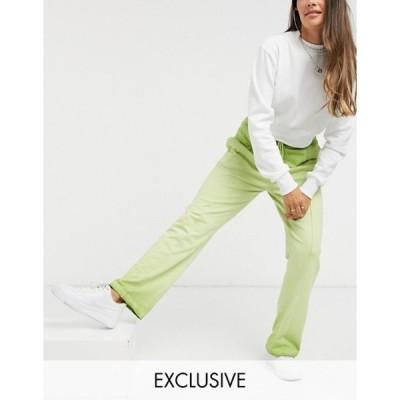 コルージョン レディース カジュアルパンツ ボトムス COLLUSION ombre wide leg jogger with stitch detail waistband
