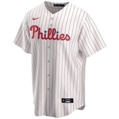 ナイキ メンズ ユニフォーム トップス Men's Philadelphia Phillies Official Blank Replica Jersey White/Red