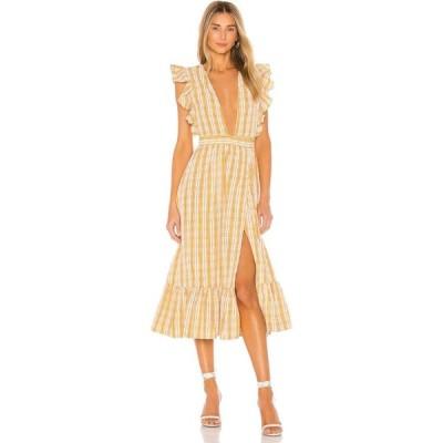 マジョレル MAJORELLE レディース ワンピース ワンピース・ドレス Mistwood Dress Yellow Plaid