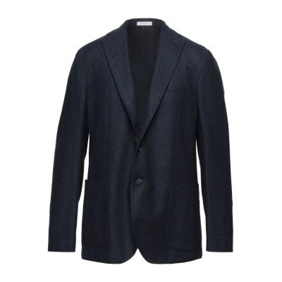 ボリオリ BOGLIOLI テーラードジャケット ダークブルー 54 カシミヤ 100% テーラードジャケット