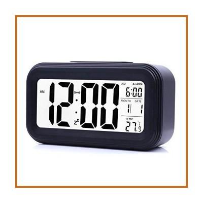 LED 時計 JJCALL 目覚まし時計 LEDディスプレイ デジタル目覚まし時計 スヌーズナイトライト バッテリー時