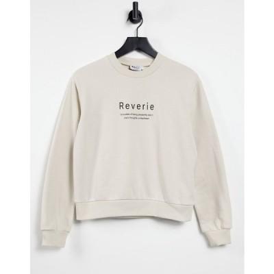 エヌ エー ケイ ディ レディース パーカー・スウェットシャツ アウター NA-KD organic cotton sweater in beige Beige