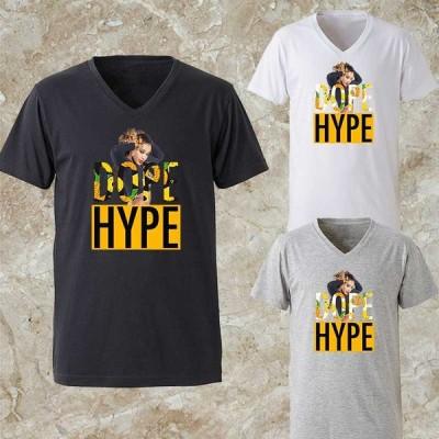 Tシャツ メンズ Vネック パロディ ブランド 半袖 ロゴ  セクシーガール イエロー