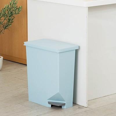 ゴミ箱 角型 ダストボックス ごみ箱 家庭用 業務用 おしゃれ 安い 北欧 オシャレ お洒落 ユニード スイッチペダル 35L  ブルー