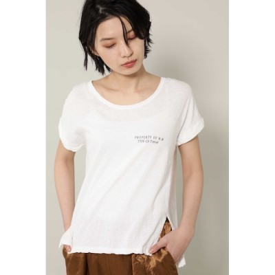 【ローズバッド/ROSEBUD】 [7月号GISELe掲載]ロゴTシャツ