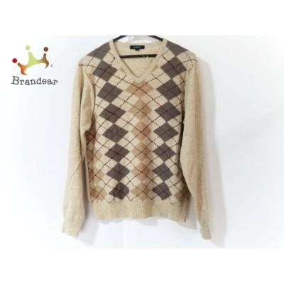 バーバリーロンドン 長袖セーター サイズM レディース - ベージュ×ダークブラウン×マルチ 新着 20210119