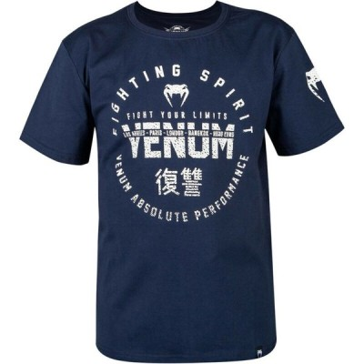 ボクシング、格闘技&MMA べナム  _no_color_ Venum Kids Signature Short Sleeve T-Shirt - Navy Blue
