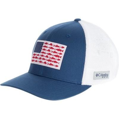 コロンビア 帽子 メンズ アクセサリー PFG Mesh Fish Flag Trucker Hat Night Tide/White